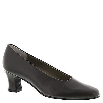 Mark Lemp Classics Womens Vicki Leather Square Toe Classic Pumps
