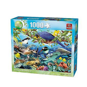 King Jigsaw Puzzel - Animal Collection Wonders Of The Wild Jigsaw, 1000 Stuk
