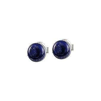 Jacques Lemans - Sterling Silver Studs with Lapis Lazuli - SE-O122A