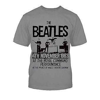 The Beatles Prince Of Wales Theatre Official Kids New Grey T Shirt (Wiek 5-12 lat)
