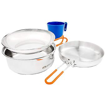 GSI Outdoors Steel Glacier Stainless 1 Person Mess Kit