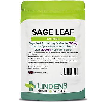 Lindens Salvia Leaf 500mg Tabletit 100 (243)