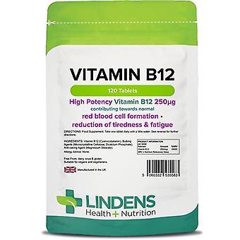 Lindens B12 -vitamiini (250mcg) Tabletit 120 (5583)