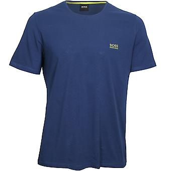 BOSS Luxe Jersey Crew-Neck T-shirt, Royal Blue med lime