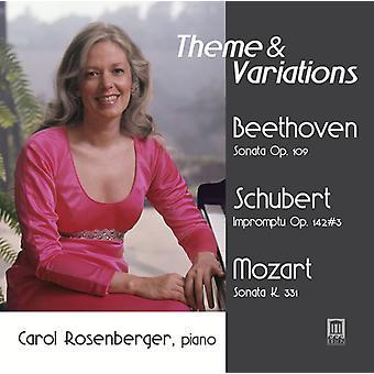 Beethoven / Rosenberger, Carol - Theme & Variations [CD] USA import