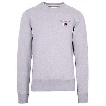 GANT Grey Round Neck Sweatshirt