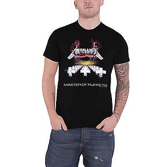 Metallica T-paita Master of Puppets Band Logo uusi virallinen Miesten Musta