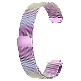 """For Fitbit Inspire / Inspire HR Strap Milanese Band Stainless Steel Magnetic[Large (6.7""""-9.3""""),Rainbow]"""
