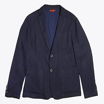 Barena  - Textured Stripe Blazer - Navy