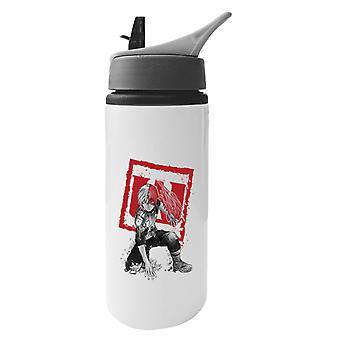 Shoto Todoroki Sumi E My Hero Academia Aluminium Water Bottle With Straw