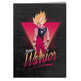 Saiyan Warrior Goku Dragon Ball Z Greeting Card