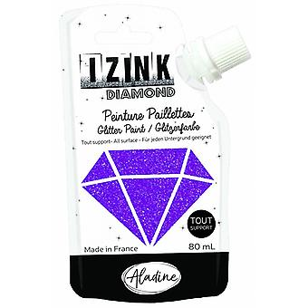 Aladine Izink Diamond Glitter Paint Violet 80ml.