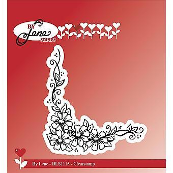 Tekijä Lene Flower Corner Clear Stamp