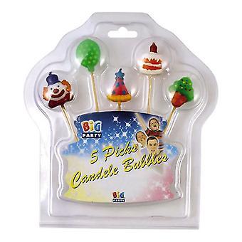 5 Pick Candles Clown