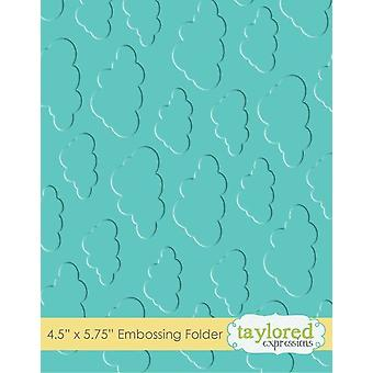 Taylored Expressions Cloudy Days Embossing Folder
