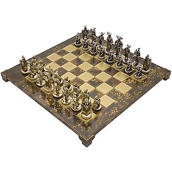The Manopoulos Medieval Knights Luxury Chess Set with Wooden Case