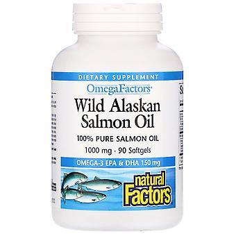 Natürliche Faktoren, Wild Alaskan Lachsöl, 1.000 mg, 90 Softgels