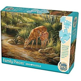Cobble hill - deer family - family 350 pc puzzle