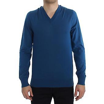 دولتشي وغابانا الكشمير الأزرق V-الرقبة pullover سترة TIT20542-1