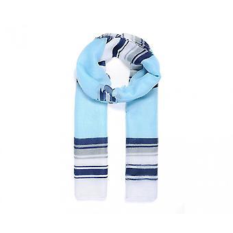 Intrige dames/dames kleur blok streep afdrukken sjaal