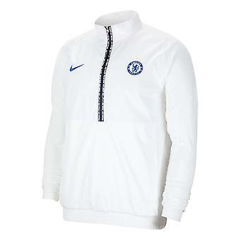 2020-2021 Chelsea Nike Half Zip Jacket (Wit)