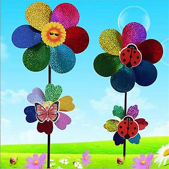 Colorful Wind Spinner Kids Toy - Sequins Windmill For Home Garden Yard Decoration