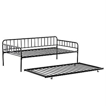 Homemiyn Vertical Bar Decoration Bed Black