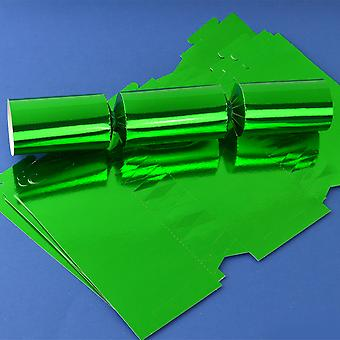 12 Green Foil Make & Fill Your Own DIY Christmas Cracker Boards