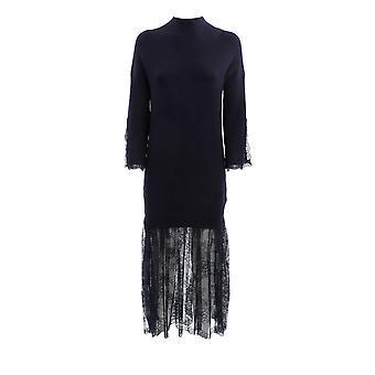 Ermanno Scervino Ab26vis432 Mujeres's vestido de viscosa azul