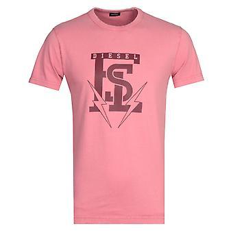 Diesel T-Diego Maglietta Pink T-Shirt
