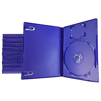 ソニーps2用の互換性のある交換用の小売ゲームディスクストレージケース - 10パック - ブルー