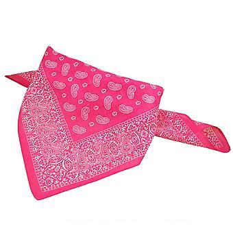 Krawatten Planet Pink & weiß Paisley Bandana Neckerchief