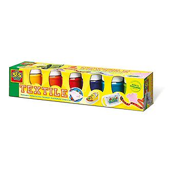 SES Creative Children's Trendy Textile Paint Set 6 Paint Pots (331)