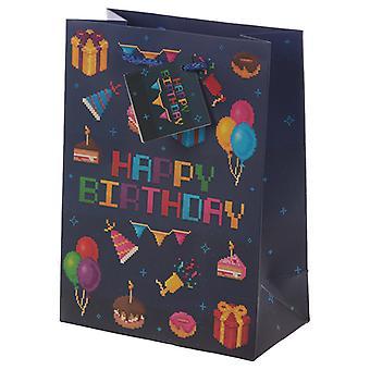 Jeu de joyeux anniversaire sur Gamer Design Sac cadeau moyen X 1 Pack
