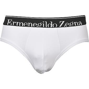 Ermenegildo Zegna Elástico Algodão Brincalhão Midi Breve, Branco