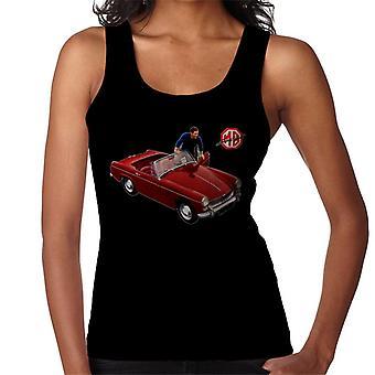 MG Red komma in bil british motor heritage kvinnor's Väst