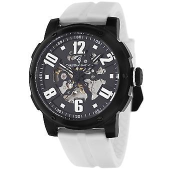 Christian Van Sant Men's Skeleton Black Skeleton Dial Watch - CV6130