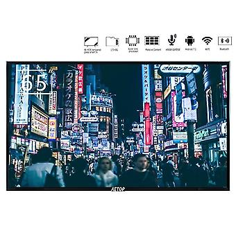 Tmepered Glass Flat Screen 4k Ultra Hd Android Led Smart Television With