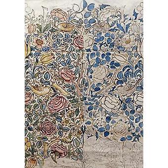 Design für Chintz Rose Poster Print von William Morris