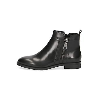 Caprice Maisie Leather Ankle Boots in Black