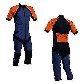 Skydiving summer suit navy-orange s2-03