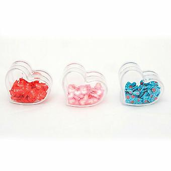 Nail Pot Art Heart Pack of 3 Nail Accessories Manicure Pink/Red/Blue - LOVE