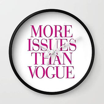 More Issues Than Vogue Wall Clock