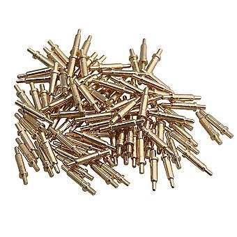100 κομμάτι επιχρυσωμένο ελατήριο καθετήρα Pogo pin connector 2,0 χιλιοστά pin κεφάλι