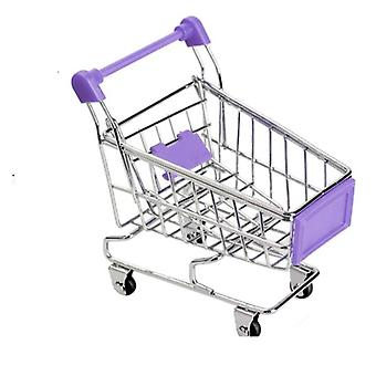 Mini Shopping Cart For Desktop Decoration/toy