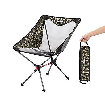 Folding Compact Camping Chair, Aluminum Mesh Beach Fishing Chairs