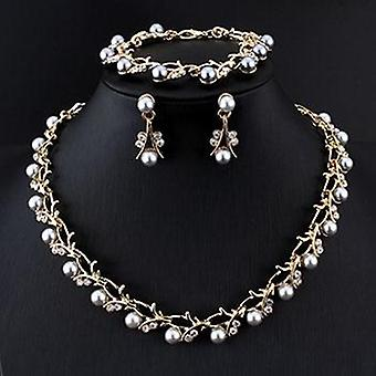 Imitation Pearl Wedding Necklace - Bridal Jewelry Sets, Elegant Party