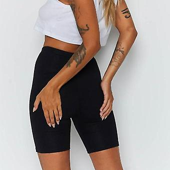 Summer Women's Cycling Shorts Stretch Plain Casual Sports Fitness Ladies