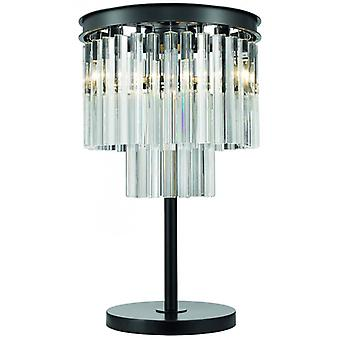 Matlock Crystal Table Lamp 3 Lights