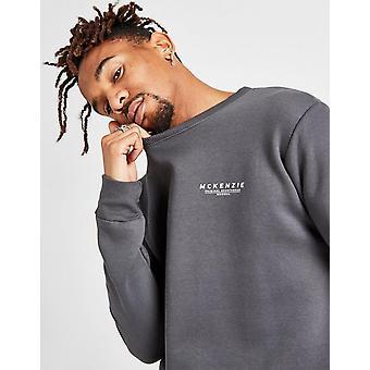 New McKenzie Men's Essential Crew Sweatshirt from JD Outlet Grey